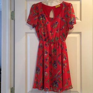 Dee Elle Red Floral Dress